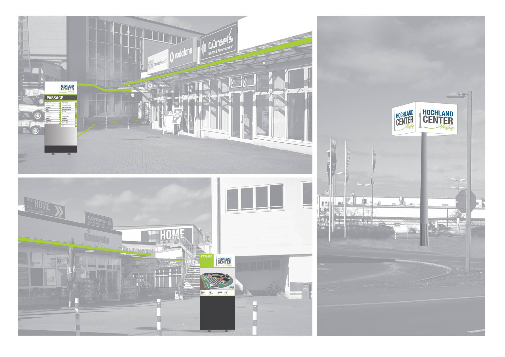 Hochland Center Leitsystem